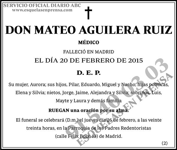 Mateo Aguilera Ruiz